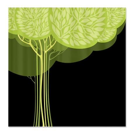 Pretty Modernist Green Tree 3a Shower Curtain