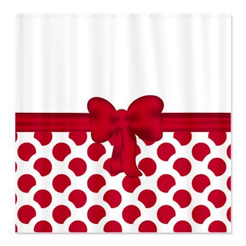 Red Dot / Spot Gift Shower Curtain