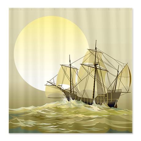 Sailing Ship on the High Seas Shower Curtain