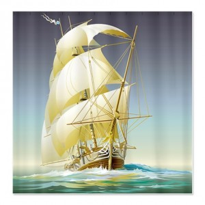 Sailing Ship on the High Seas Shower Curtain