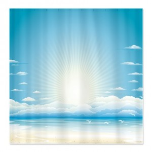 Sea Sky Horizon Shower Curtain