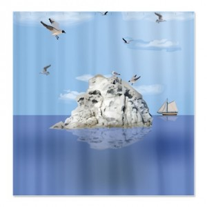 Seabird Island Shower Curtain