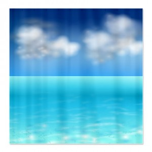 Serenity Sea and Sky Shower Curtain