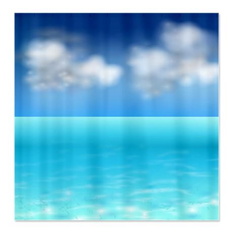 Makanahele Com Serenity Sea And Sky Shower Curtain