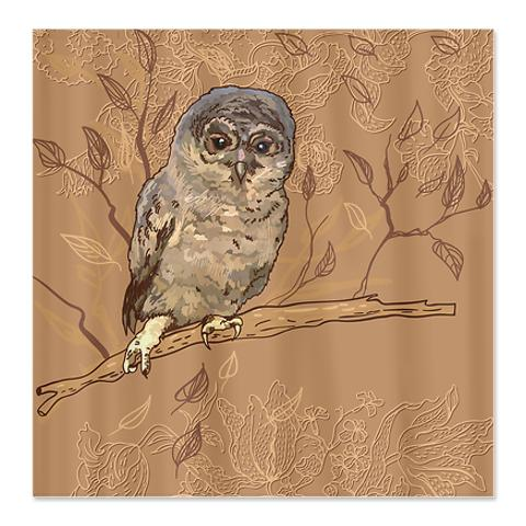 Tawny Owl Shower Curtain