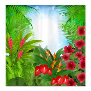 Tropical Jungle 2 Shower Curtain