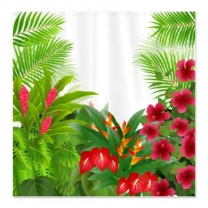 Tropical Jungle 3 Shower Curtain