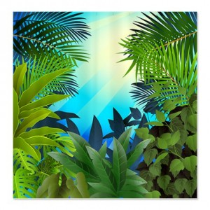Tropical Jungle 4 Shower Curtain