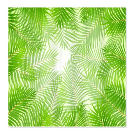 Tropical Palm Fronds Shower Curtain