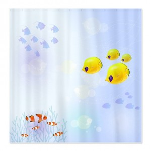 Tropical Reef Fish Aquarium Shower Curtain