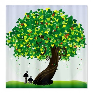 Whimsical Storybook Tree Shower Curtain
