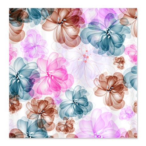 Abstract Art Floral Pattern Shower Curtain