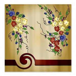 Antique Floral Shower Curtain