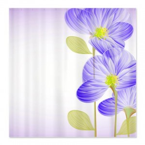 Beautiful Abstract Art Flower 1 Shower Curtain