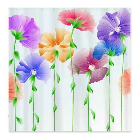 Beautiful Abstract Art Flower 3 Shower Curtain