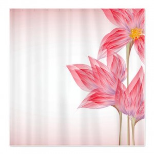Beautiful Abstract Art Flower 2 Shower Curtain
