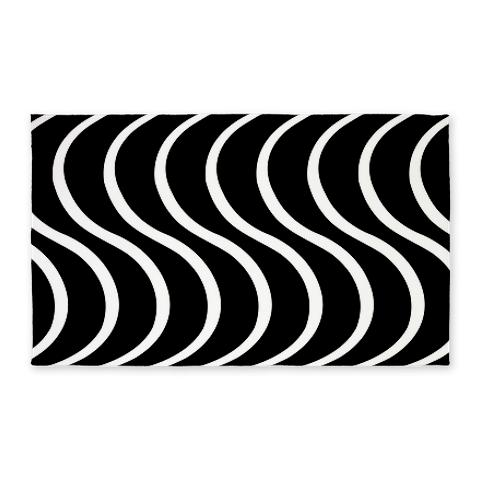 Black Wave 3'x5' Area Rug