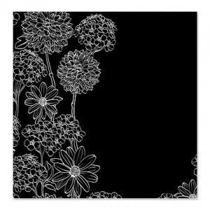 Black White 1A shower curtain Shower Curtain