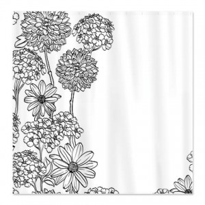 Black White 1B Shower Curtain