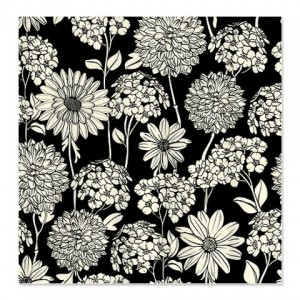 Black Cream 2A Shower Curtain