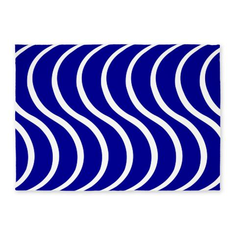 Blue Wave 5'x7' Area Rug