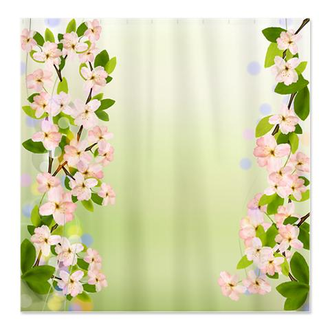 Shower Curtains cherry blossom shower curtains : Makanahele.com | Category | Tree Shower Curtains
