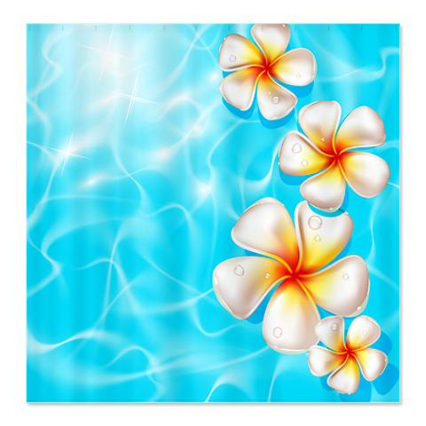 Clear Blue Summer Days 3 Shower Curtain