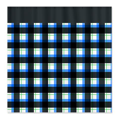 Country Plaid Shower Curtain 11