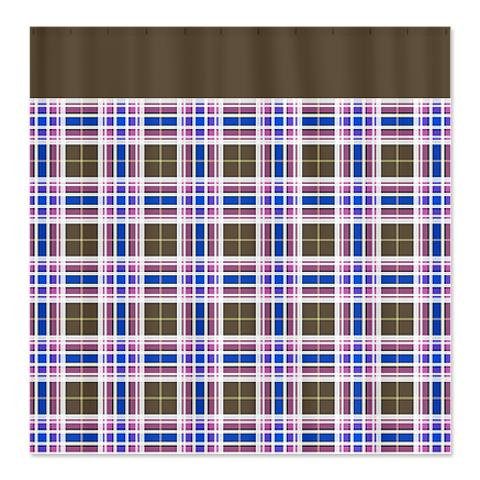 Country Plaid Shower Curtain 14