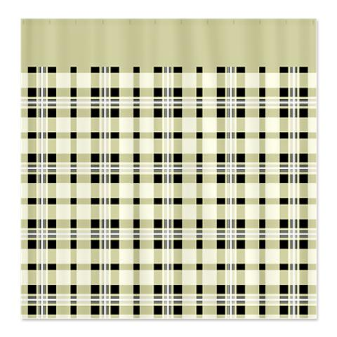 Country Plaid Shower Curtain 15