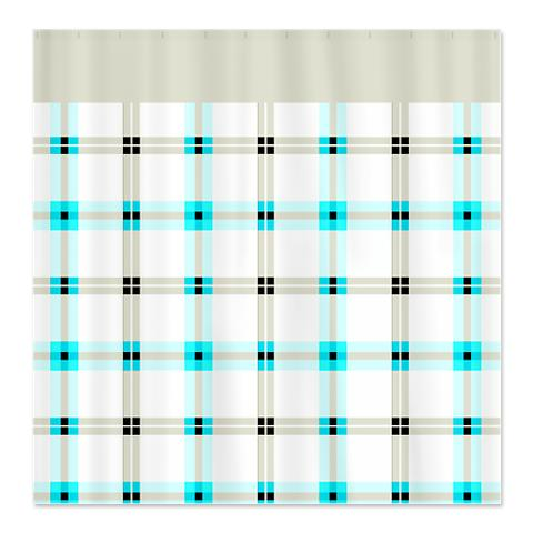 Country Plaid Shower Curtain 20