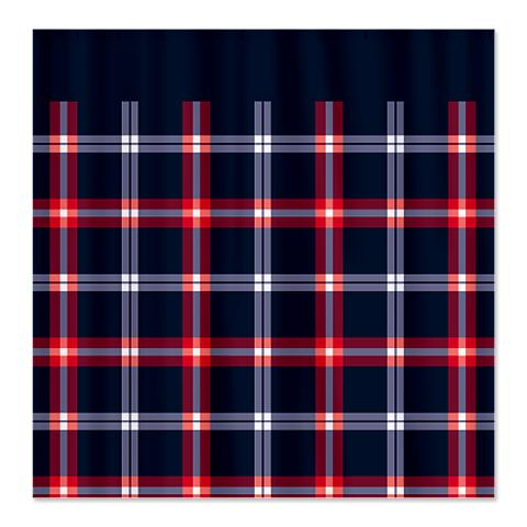 Country Plaid Shower Curtain 8