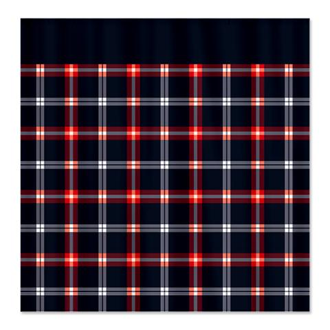 Country Plaid Shower Curtain 9