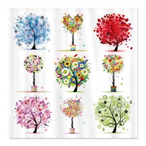 Floral Trees Shower Curtain