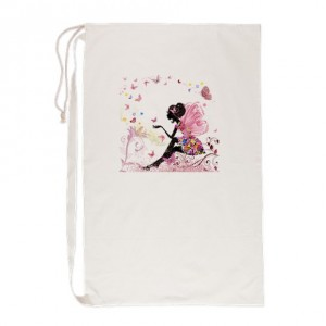 Flower Fairy Girl 1 Laundry Bag