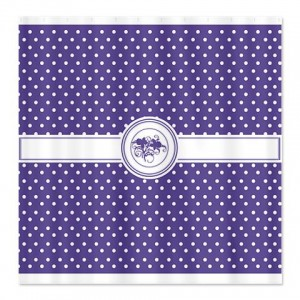 Fresh Lavender Floral Polka Dot Shower Curtain