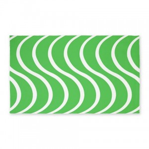 Green Wave 3'x5' Area Rug