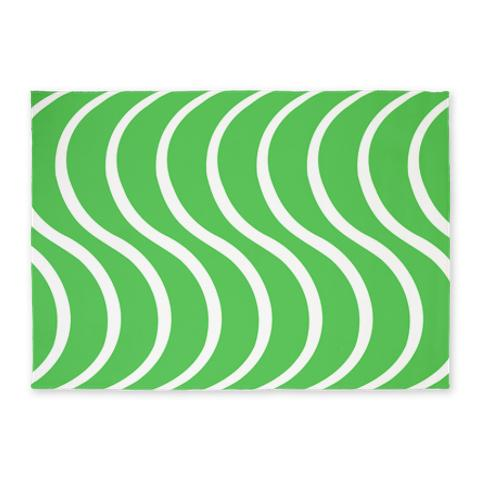 Green Wave 5'x7' Area Rug