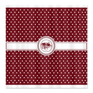 Mars Red Floral Polka Dot Shower Curtain
