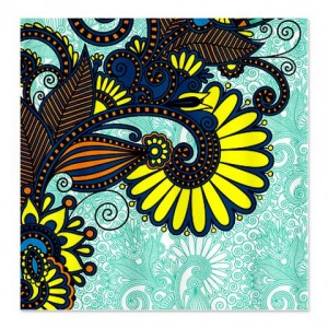 Ornate Floral 1 Shower Curtain