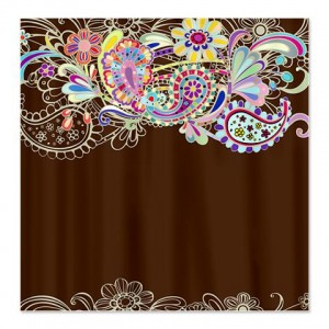 Ornate Floral 2 Shower Curtain