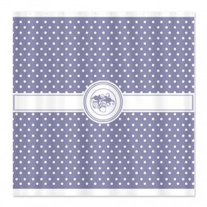 Periwinkle Floral Polka Dot Shower Curtain