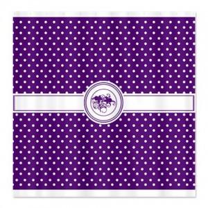 Purple Floral Polka Dot Shower Curtain
