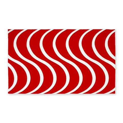 Red Wave 3'x5' Area Rug
