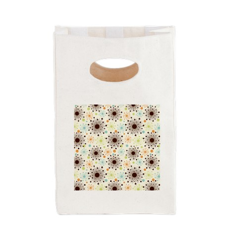Retro Starbursts Canvas Lunch Tote