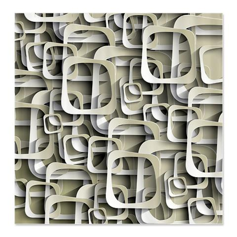 Abstract Art Square Cutouts Shower Curtain