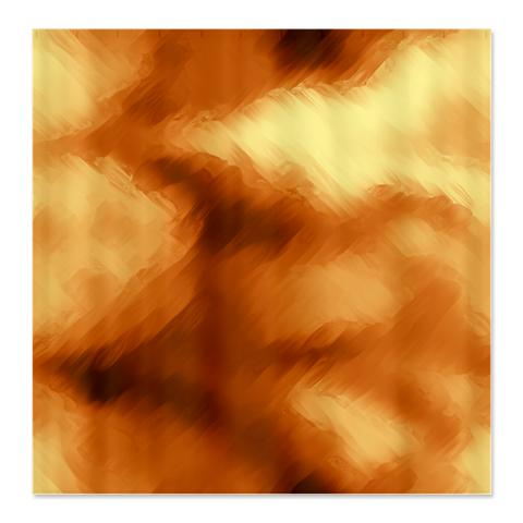 Amber Brown and Copper Abstract Art Shower Curtain