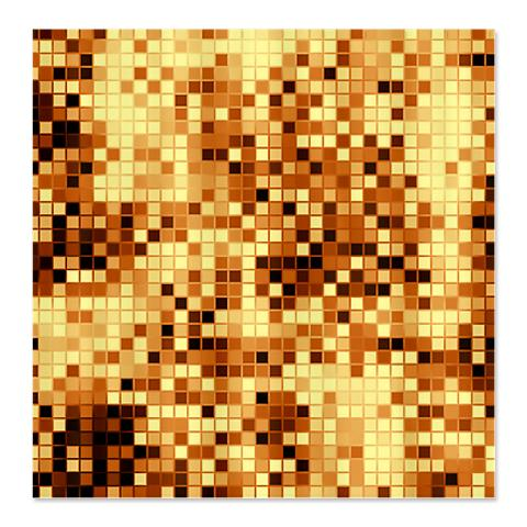Amber Brown Micro Tiles Shower Curtain