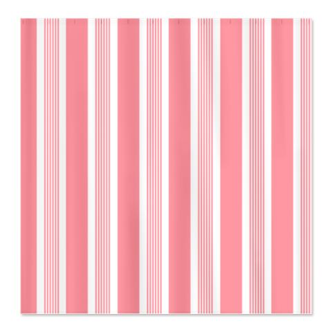 Bold Amaryllis Pink Striped Shower Curtain