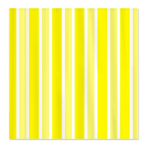 Bold Lemon Yellow Stripes Shower Curtain